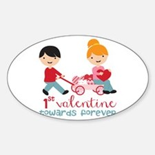 1st Valentines Day Together Sticker (Oval)