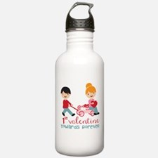 1st Valentines Day Together Water Bottle