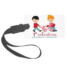 1st Valentines Day Together Luggage Tag