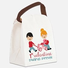 1st Valentines Day Together Canvas Lunch Bag