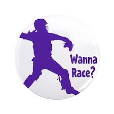 """purple Wanna Race 3.5"""" Button"""