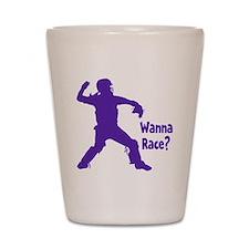 purple Wanna Race Shot Glass