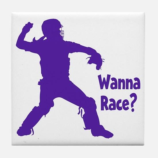 purple Wanna Race Tile Coaster