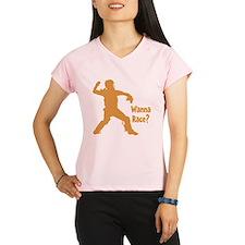 gold Wanna Race on black Performance Dry T-Shirt