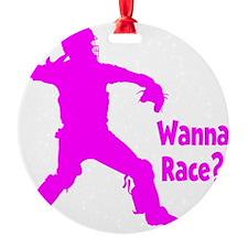 pink Wanna Race Ornament