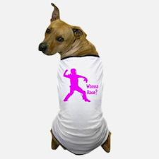 pink Wanna Race Dog T-Shirt