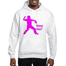 pink Wanna Race Hoodie