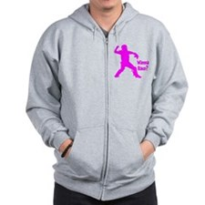 pink Wanna Race Zip Hoodie