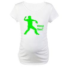 green2 Wanna Race on black Shirt