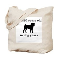 60 birthday dog years pug Tote Bag