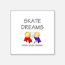 "Skate Dreams Square Sticker 3"" x 3"""