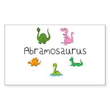 Abramosaurus Rectangle Decal