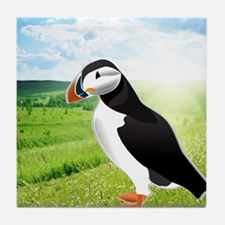 Atlantic Puffin Look forward to love  Tile Coaster