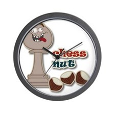 Chess Pawn, Chess Nut and Chestnuts Wall Clock