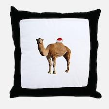 Merry Hump Day Camel Christmas Throw Pillow