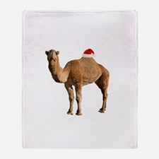 Merry Hump Day Camel Christmas Throw Blanket