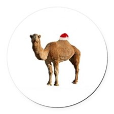 Merry Hump Day Camel Christmas Round Car Magnet