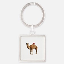 Merry Hump Day Camel Christmas Square Keychain