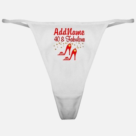 40TH STILETTO Classic Thong