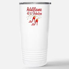 40TH STILETTO Stainless Steel Travel Mug