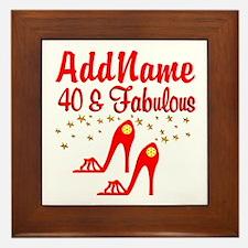 40TH STILETTO Framed Tile