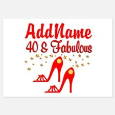 40TH STILETTO Invitations