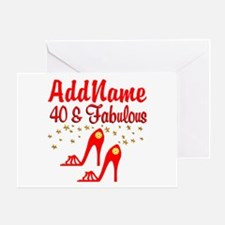 40TH STILETTO Greeting Card