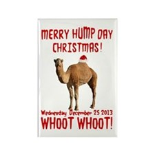 Merry Hump Day Camel Christmas Rectangle Magnet