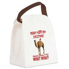 Merry Hump Day Camel Christmas Canvas Lunch Bag