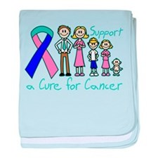 Thyroid Cancer Support A Cure baby blanket