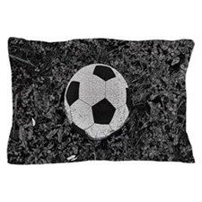 Soccer Ball in The Grass Pillow Case