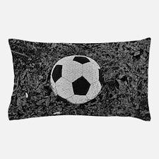 Soccer Ball in The Grass Pillow Case