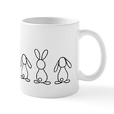 4 bunnies family sticker (2 lops 2 up e Mug