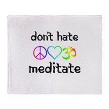 meditate Throw Blanket