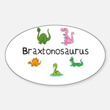 Braxtonosaurus Oval Decal