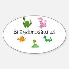 Braydonosaurus Oval Decal