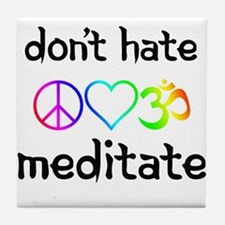 meditate Tile Coaster