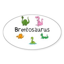 Brentosaurus Oval Decal