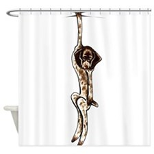 Clingy Pointer Shower Curtain