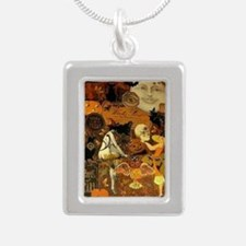 Witchs Stew Silver Portrait Necklace