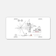Pioneer 10 Plaque v2 Aluminum License Plate