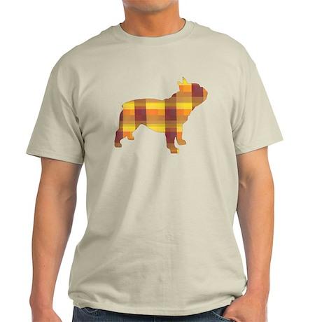 plaid french bulldog Light T-Shirt