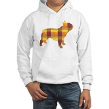 plaid french bulldog Hoodie