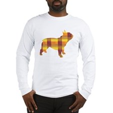 plaid french bulldog Long Sleeve T-Shirt