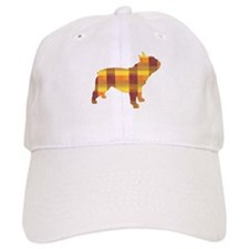 plaid french bulldog Baseball Cap