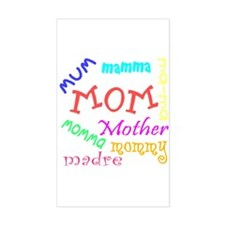 Many Names for Mom Rectangle Decal