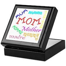 Many Names for Mom Keepsake Box