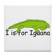 I is for Iguana Tile Coaster