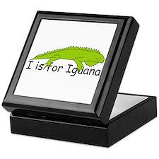 I is for Iguana Keepsake Box