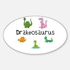Drakeosaurus Oval Decal